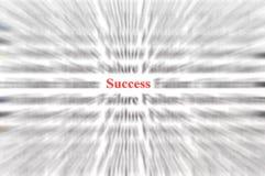 Succes onder mislukking Stock Foto's