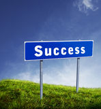 Succes sign board Royalty Free Stock Photography