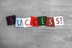 Succes, tekenreeks voor succesvolle zaken, voltooiing, en w Royalty-vrije Stock Afbeelding