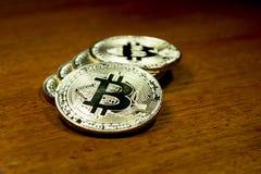 Succes van de Bitcoin het virtuele munt in de financiële wereld Royalty-vrije Stock Afbeelding