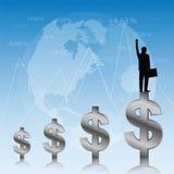 Succes van zakenman vector illustratie