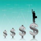 Succes van zakenman stock illustratie