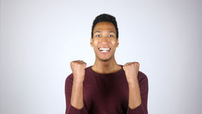 Succes, Voltooiing, Opwinding, Winnaar, Gebaar door de Jonge Mens stock afbeelding
