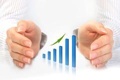 Succes in zaken. Stock Foto's