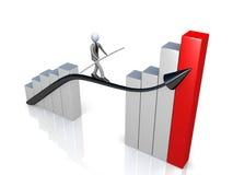Succes in Zaken stock illustratie