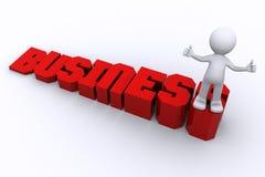 Succes in zaken. Bedrijfs groeiend concept Royalty-vrije Illustratie