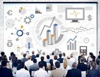 Succesdoelstellingen Analyse Collectief Bedrijfsconcept royalty-vrije stock foto's