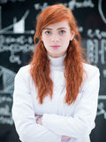 Succesful student in chemistry lab Royalty Free Stock Photos