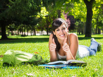 Succesful teen student Stock Image