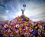 Succesmanager en van de bedrijfs richtingsoplossing concept Royalty-vrije Stock Foto's