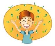 Succesmens met heel wat Geld Stock Foto
