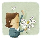 Succesmislukking in bloemblaadjes van madeliefje royalty-vrije illustratie
