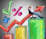 Succesonderneemster stock illustratie