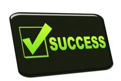 Success. Card achievement card  logo Stock Image