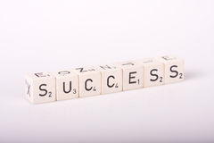 Success. Cubes with letters spelling success on a plain white background vector illustration