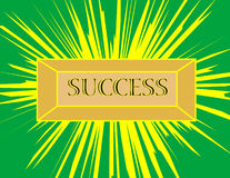 Success. Gold bar stamped with the word success Stock Photo