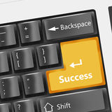 Success. Special black keyboard - success button Royalty Free Stock Images