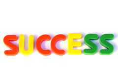 Success. Colored text with the word success. Great colors Royalty Free Stock Photography