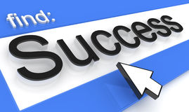 Success. Iinternet browser with success searching Royalty Free Stock Images