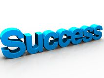 Success. 3D rendered word success with cartoon shading Royalty Free Stock Image