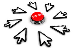 Success. The image concept. 3D render Royalty Free Stock Image