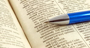 Success. Word success in english russian dictionary Stock Photography