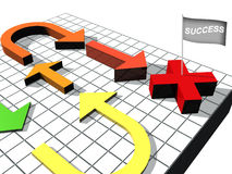 Success. Arrows and white background,flag and success,arrows and financial Stock Photo