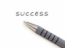 Success. Pen just written word'success royalty free stock images