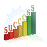 Success. This is a shiny colorful diagram which symbolize the success Stock Photo
