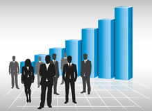 Success. Business team and blue graph Royalty Free Stock Photo