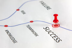 Success. Way of success with teamwork and knowledge Royalty Free Stock Image