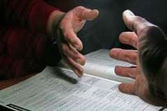 Success. Handshake over a business agreement royalty free stock image