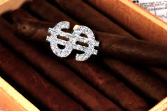 Success. Photo of Cigars with Dollar Sign Wrapper As Emphasis Royalty Free Stock Photos