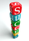 Success 3d colorful buzzword. Success 3d buzzword on white background Stock Photography