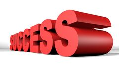 Success 3D lettering in perspective Royalty Free Stock Photo