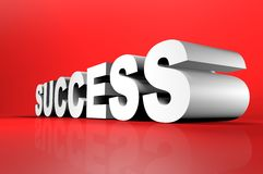 Success 3D lettering in perspective Royalty Free Stock Images