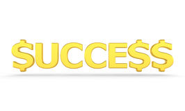 Success - 3d render Royalty Free Stock Photography