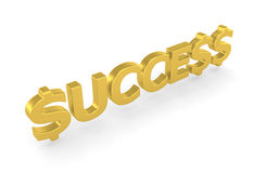 Success - 3d render Royalty Free Stock Photo