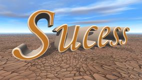 Success 3d render Royalty Free Stock Images