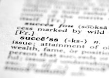 Success. Dictionary word definition of success Royalty Free Stock Photography