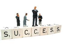 Success. Businessman having a lot of success lately stock photography