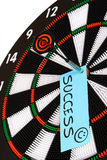 Success. Dartboard. Hitting the mark and achieving success Stock Photography