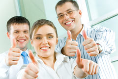 Success. Image of business people showing sign of okay Stock Photography