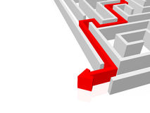 Success. Labyrinth and difficult road to success royalty free illustration
