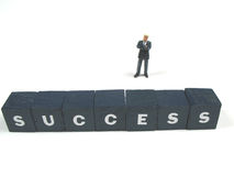 Success. A businessman having some success stock photography