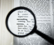 Success. Close up image of the word Success in dictionary royalty free stock image