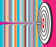 Success. Illustration of a success business target over colorful background Royalty Free Stock Photo