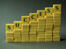 Success. Made of little blocks Stock Photography