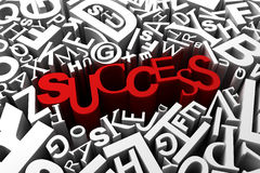 Success. Concept with many letters Royalty Free Stock Images