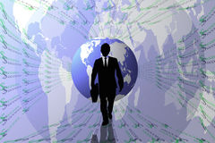 Success abstract background with earth and business man. Royalty Free Stock Photography